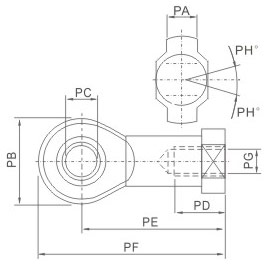 overall dimensions ISO-PHS Type Fish Eye Joint