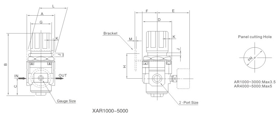 overall dimensions XAR